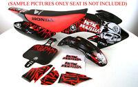 BODY PLASTIC & DECALS KIT HONDA XR50 CRF50 SSR SDG 107 110 125 PIT BIKE M DE59+