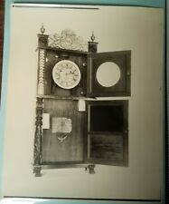 Antique Munger & Benedict Shelf Clock Interior Photograph