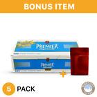 Premier blue light 100 cigarete tubes 5 pack & bonus case