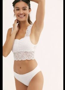Free People Chase Me Lace Brami Crop Top Size Small New