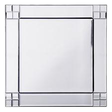 Vintage Retro Square Glass Mirror in Silver Decorative Home Decoration Litecraft
