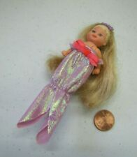 Mattel Barbie MAGICAL MERMAID Jointed Baby Krissy Princess Doll Crown Outfit