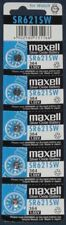 MAXELL SR621SW 364 Silver Oxide Button Cell Battery - 5 Piece Pad - BNew - Auth