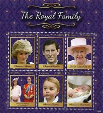 Tanzania 2016 MNH Royal Family 6v MS II Queen Elizabeth II Prince William Stamps