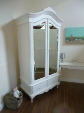 Double French Charroux Armoire In White (Large) - Handmade Double Wardrobe