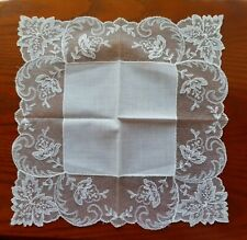 Vintage Ladies Hankie White Lace
