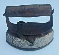 Vintage Asbestos Sad Iron 6+ lbs Cast Iron