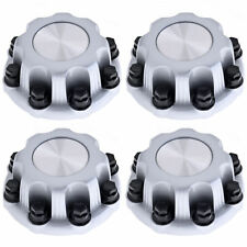 """4PC Set for GMC 8 Lug SILVER Center Cap For 16"""" Steel Wheel Rim Bolt On Hub Skin"""