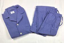 Brooks Brothers Basics Mens 2Pc Pajama Pant Set Blue Check Mens Cotton Size S