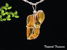 Baltic Amber & 925 SOLID Silver Pendant & chain    #205445
