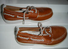 EUC Crocs Boat Shoes Brown Leather Size W6 - W 6