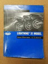 Buell Motorcycles 2002 Lightning X1 Model Service Manual P/N 99490-02Y