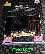Disney Parks Wdw Main Entrance Sign 3D Metal Earth Model Kit