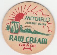 MILK BOTTLE CAP. MITCHELL'S JERSEY DAIRY. HOCKESSIN, DE.