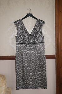 Adrianna Papell Pretty Lace Print Dress Races Wedding Party BNWT 14 16 £140