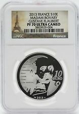2013 France Madam Bovary Gustave Flaubert Silver NGC PF70 Coin 10 Euro - JC161
