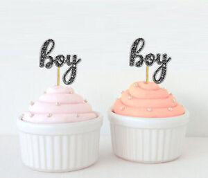 Darling Souvenir| Baby Shower Boy Cupcake Toppers| Gender Reveal-je8