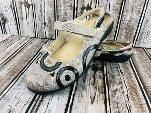 Naot Rongo Mary Jane Flat  EUR 39 US 6.5 Sling Back Closed Toe Tweed  Shoe