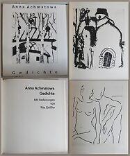 Anna Akhmatova -poesie. Con Acqueforti von Rita Gala 1989 - Nr.1/30 - xz