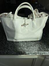 Longchamp White Patent leather Tote
