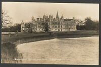 Postcard Stamford Lincolnshire view of Burghley House and Lake posted 1928 RP