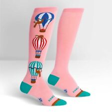 SOCK IT TO ME SLOTH AIR BALLOON THEMED PINK KNEE HIGH SOCKS - HANG IN THERE