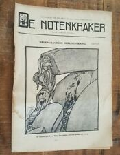 Historic Original Wwi Dutch Magazine - De Notenkraker - No. 4875 - 26 Feb 1916