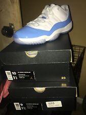 Air Jordan 11 Retro Low  White/University Blue UNC Carolina Mens Size 9,9.5,10