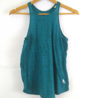 adidas climalite tank top running shirt women's S teal space dyed gym workout