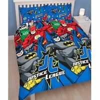 Justice League Inception Set Housse de Couette Double Réversible Garçons Héros