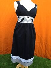 Jacqui E sleeveless black summer dress , size 8.