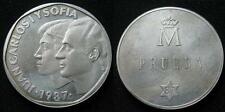 500 pesetas en PRUEBA  de anverso acuñada en plata en el año 1987
