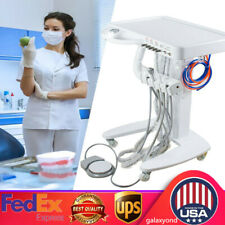 Dental Equipment Portable Self Delivery Mobile Cart System Unit+Weak Suction +4h