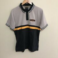 Drive To Win V8 Supercars Australia Racing Polo Shirt Grey Black Mens Medium