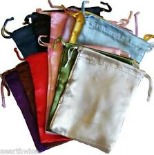 12 x SATIN POUCHES ASSORTED COLOURS 152 x 127 mm Wicca Witch Pagan Goth 12 xBAGS