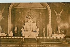 A View Of The Interior, Catholic Church, Placerville, California CA