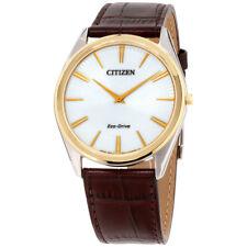 Citizen Stiletto Eco-drive Blanco Cuadrante Reloj para hombres AR3074-03A