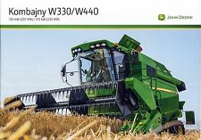 John Deere W330 W440 02 / 2016 catalogue brochure moissonneuse batteuse combine