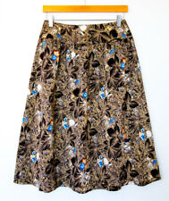 Vintage 70's College Town knee-length skirt. A-line modern size 4 floral pattern