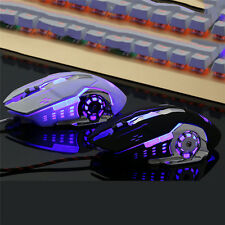 Wired Gaming Mouse PC Computer Wireless Laptop Optical Gamer Mice Black / White