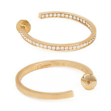 CARTIER Inside Out Diamond 18k Yellow Gold Hoop Earrings