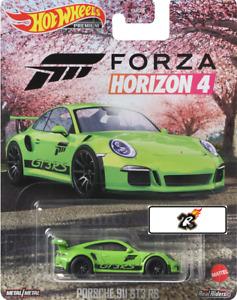HOT WHEELS 2021 RETRO ENTERTAINMENT - PORSCHE 911 GT3 RS FORZA HORIZON 4 IN STOC