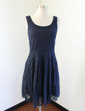 bbccc0562c9 J Crew Factory Navy Blue Swirling Lace Dress Size 4 Sleeveless Cocktail  Party