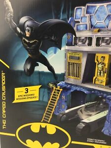 DC Batman The Caped Crusader 3 in 1 Batcave 3 Levels of Play & Figure Kids Toy
