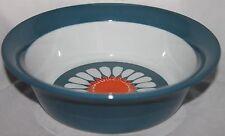 1 Vintage SERVING BOWL round orange blue DAISY Figgjo Flint Turi Design Norway