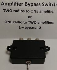 Ameritron ARB-704 BYPASS switch Amplifier keying interface amateur radio BLACK