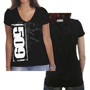 509  CLOTHING APPAREL  - STENCIL WOMENS V-NECK T-SHIRT  2XL    #  509-17254