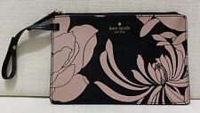 KATE SPADE NEW YORK - Mya Gardenia Pouch w Bag Strap Black/Pink