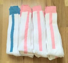 Lot of 11 Orlon Terry Knee Socks Pink & Blue White Sz 9-11 Slightly Damaged
