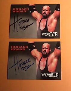 1999 Topps WCW nWo Horace Hogan autograph cards signed wrestling signature auto